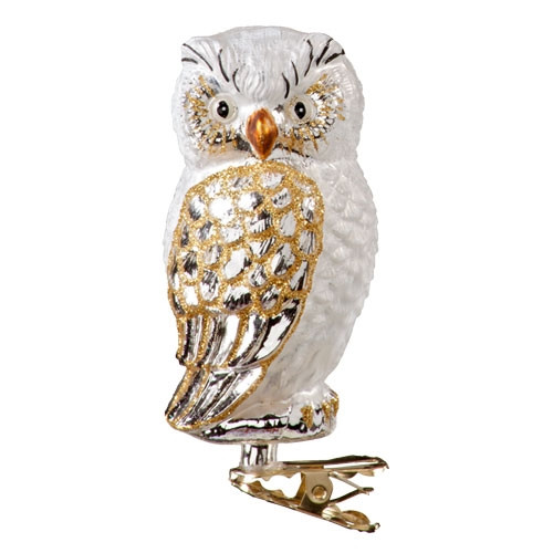 Gold and White Owl