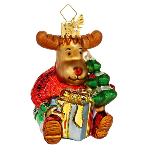 Moose with Tree and Gift