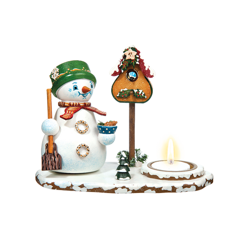 Jolly Snowman with Tea Light