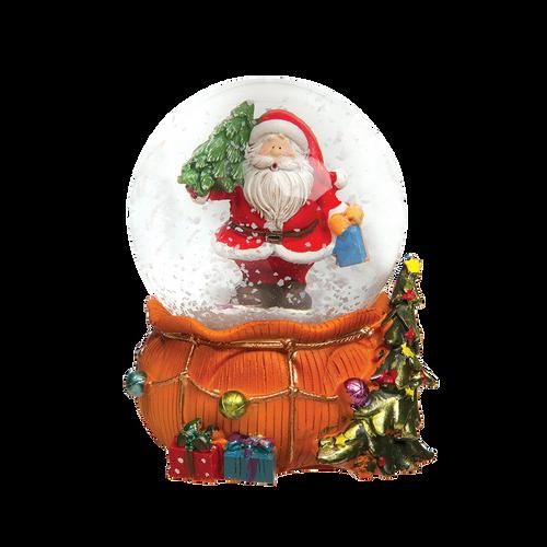 Santa & Gift Bag Snow Globe