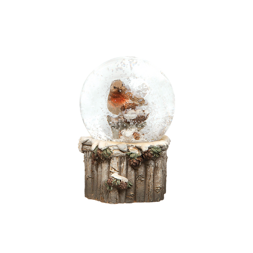 European Robin Snow Globe