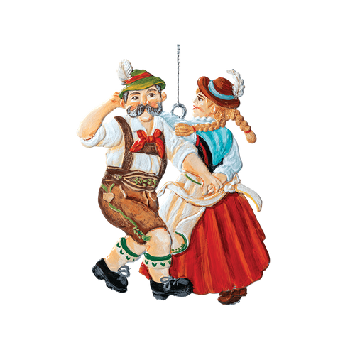 Dancing Bavarian Couple
