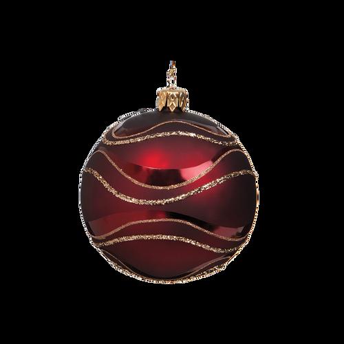 Dark Red & Gold Ball Medium