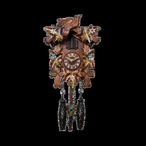 Painted Flowers Quartz Clock