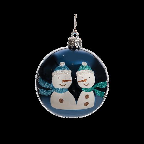 Blue Snowmen Ball Medium