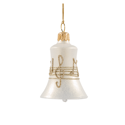 Cream with Gold Musical Notes Bell