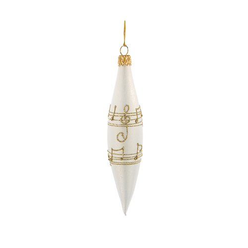 Cream with Gold Musical Notes Spire