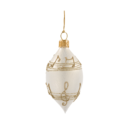 Cream with Gold Musical Notes Spire Small
