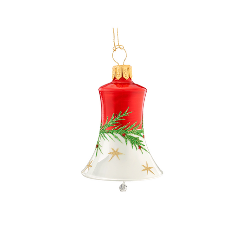 Red & White with Garland Bell