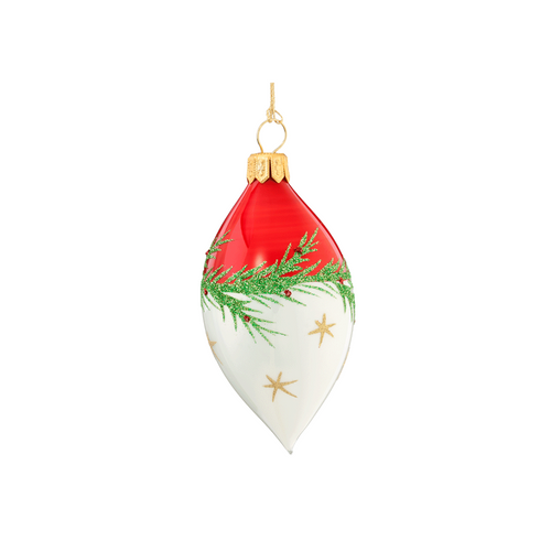Red & White with Garland Spire Small