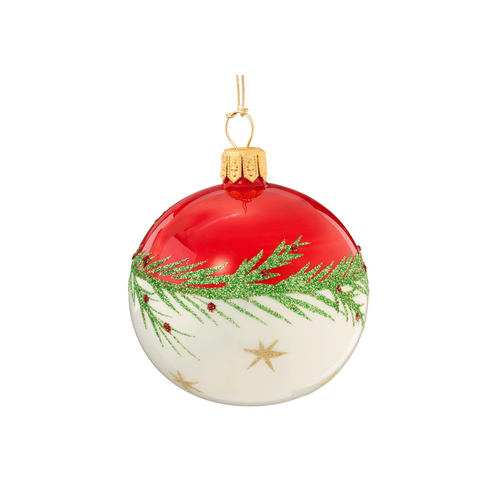 Red & White with Garland Ball Small