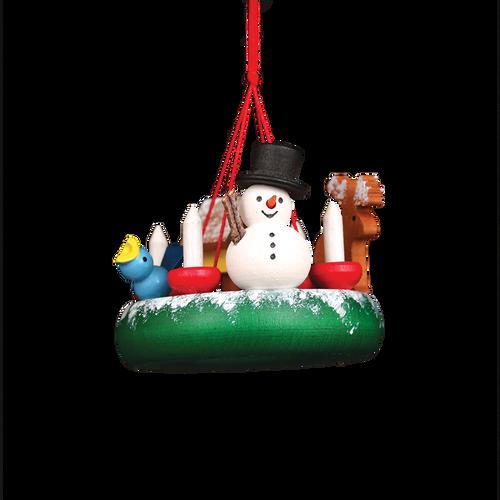 Snowman Advent Wreath
