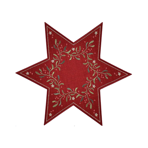 Red Holly Star Large