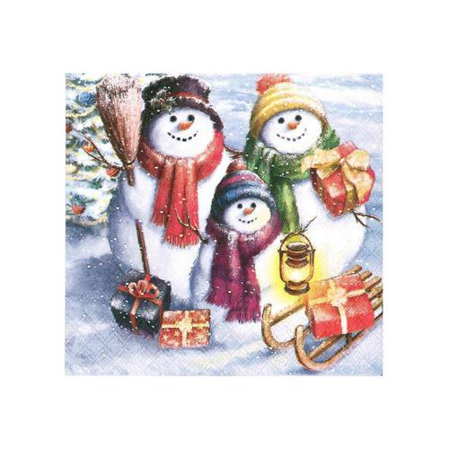 Snowman Family Napkins