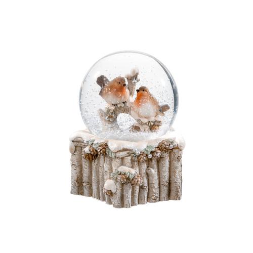 Winter Robin Couple