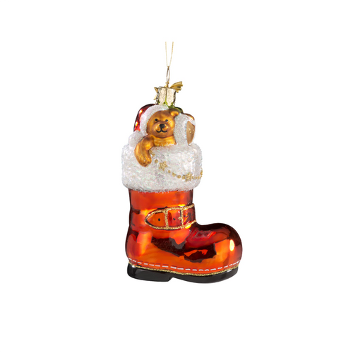 Santa's Boot with Teddy Bear