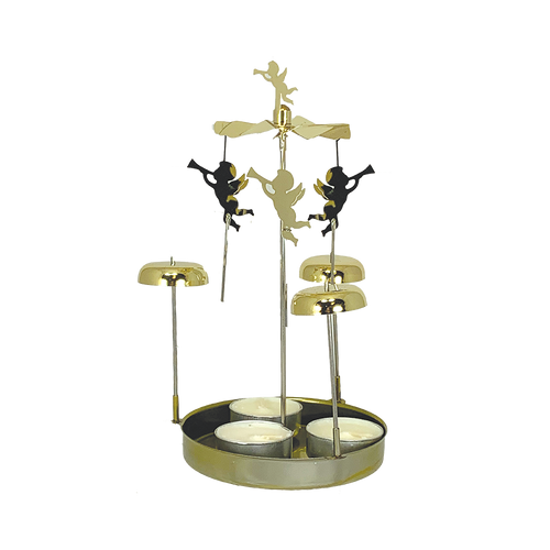 Gold Metal Chime Pyramid with Angels