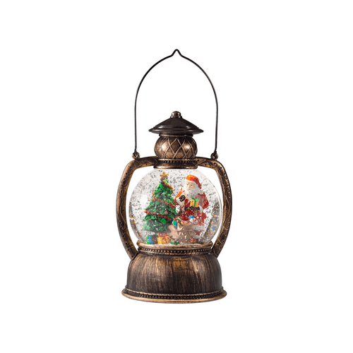 Bronze Lantern with Santa Claus
