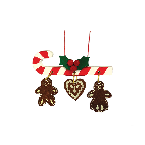 Candy Cane with Gingerbread Cookies