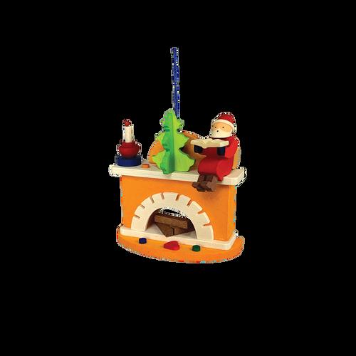 Santa on the Fireplace