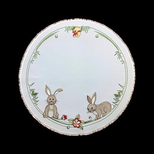 "Playful Rabbits 11"" Round"