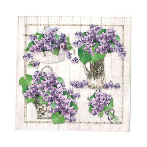 Purple Bouquet Napkins