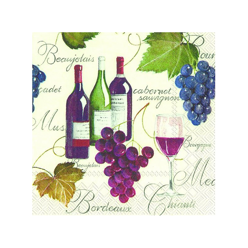 Wine & Grapes Cocktail Napkins