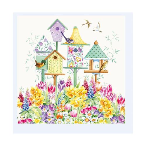 Spring Birdhouse Napkins