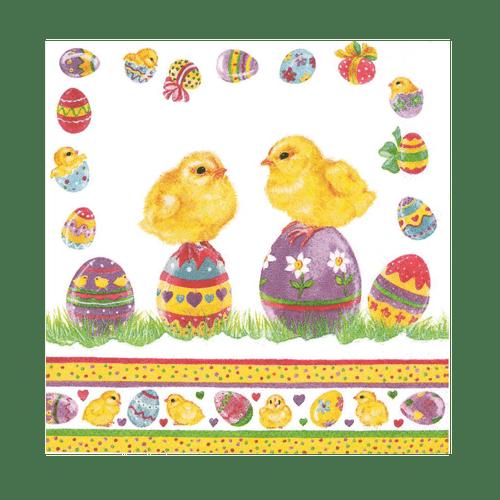 Chicks on Easter Eggs Napkins