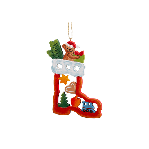 Christmas Teddy in Boot