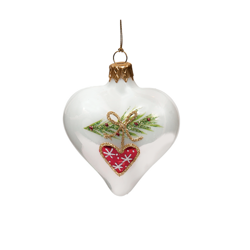Red Heart Christmas Garland Heart