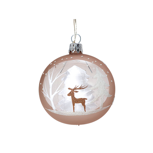 Brown Ornament with Deer