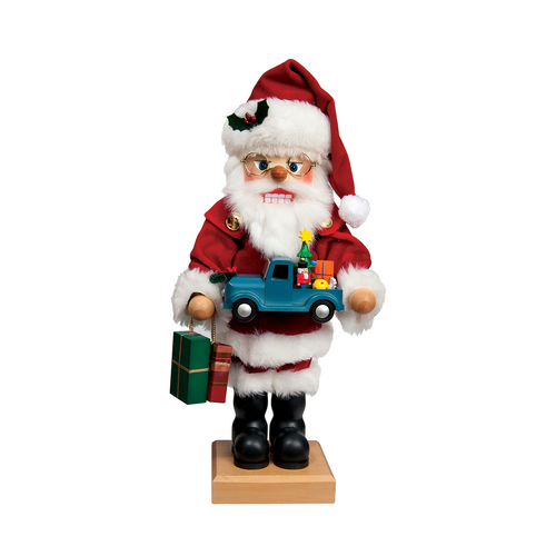 Santa with Blue Truck