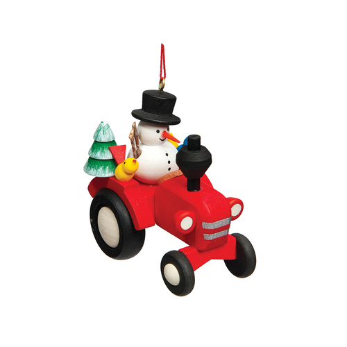 Snowman on Tractor