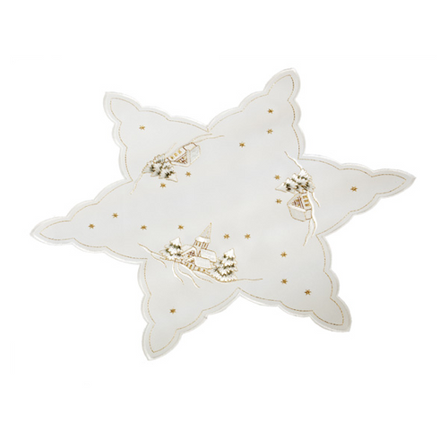 Winter Snow Star 10""