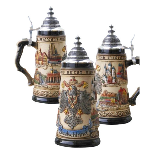 Colorful German Towns Beer Stein