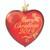 Merry Christmas Glass Heart 2019