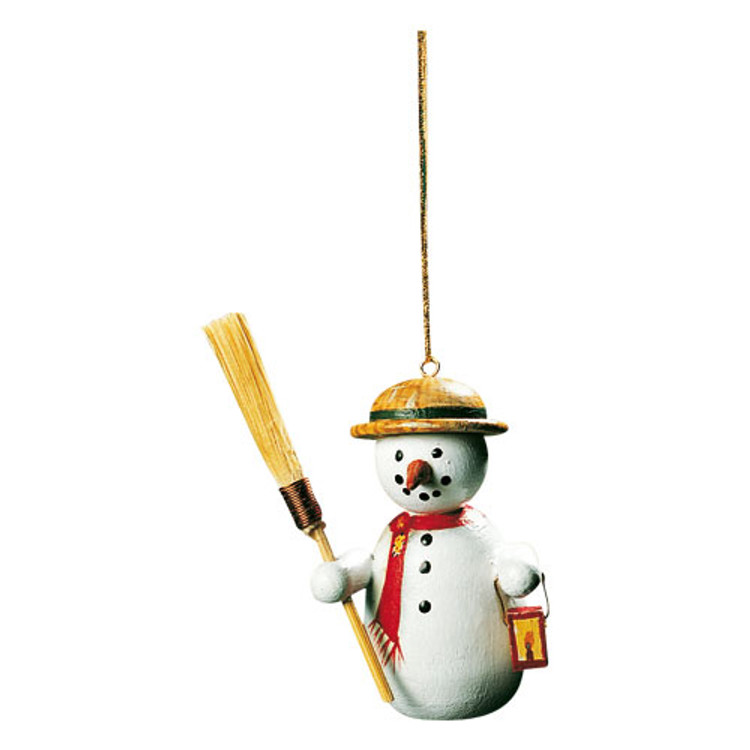 Snowman With Broom