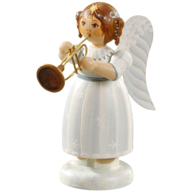 White Dress Angel with Trumpet