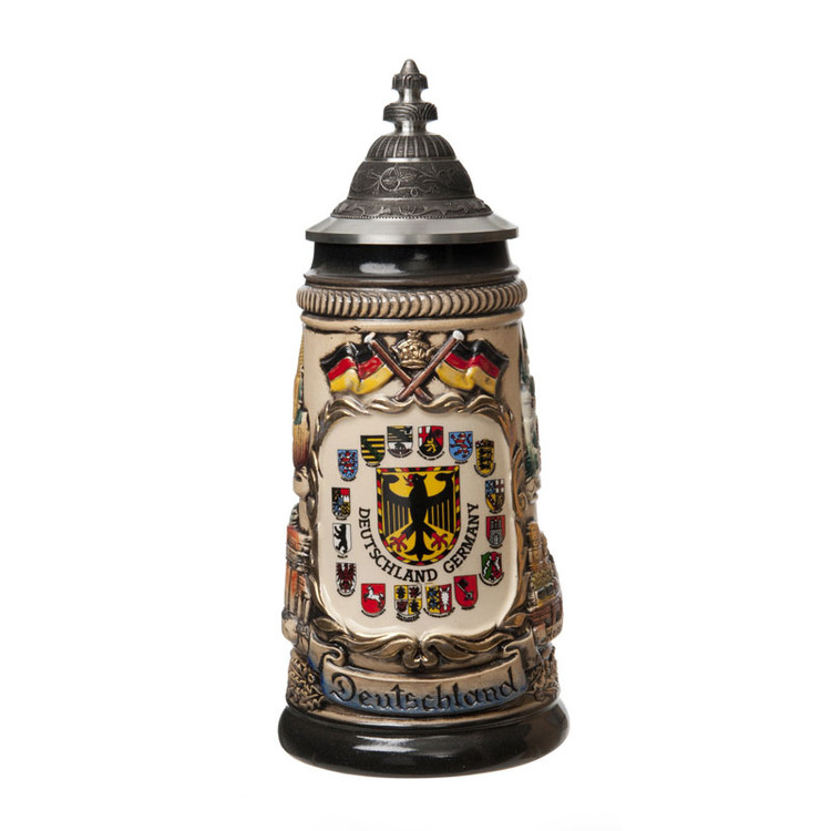 German Cities Crest Beer Stein
