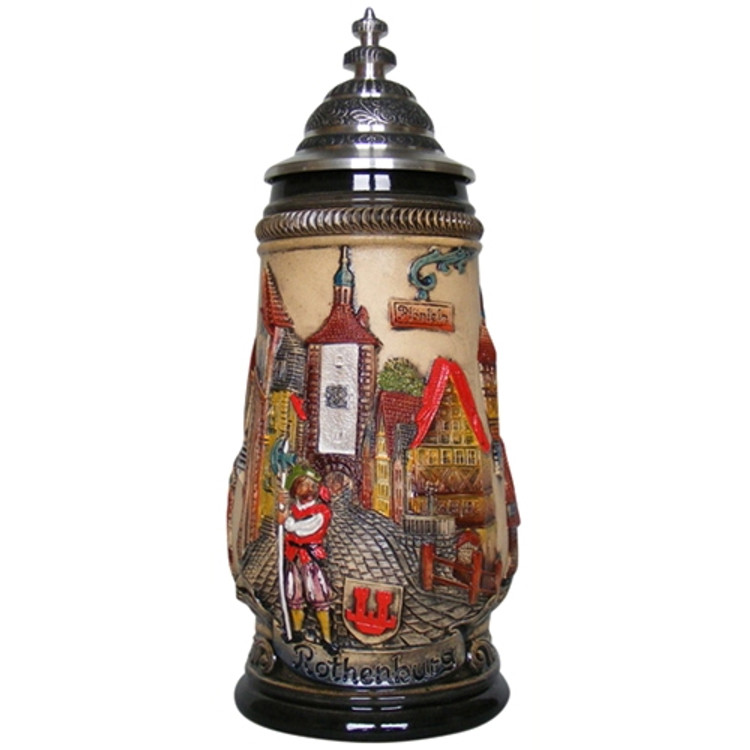 Rothenburg Red Beer Stein 1/2 Liter