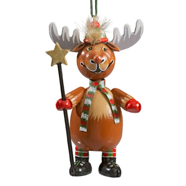 Reindeer with Stripped Scarf
