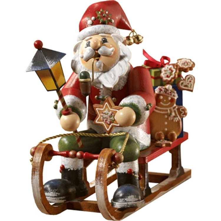 Santa on Gingerbread Sleigh