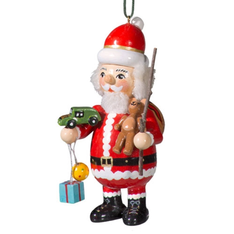 Santa with Toy Car and Gifts