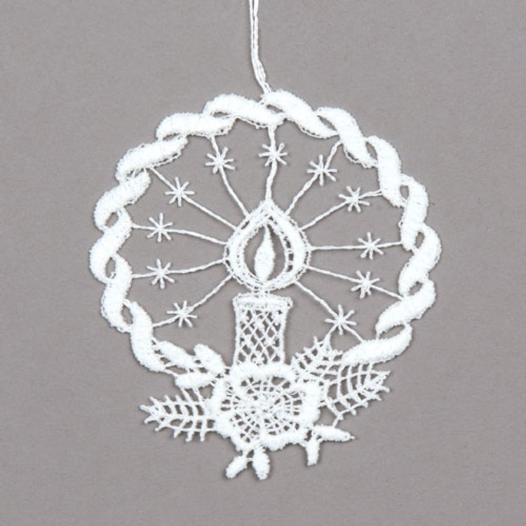 Halo Candle linen ornament
