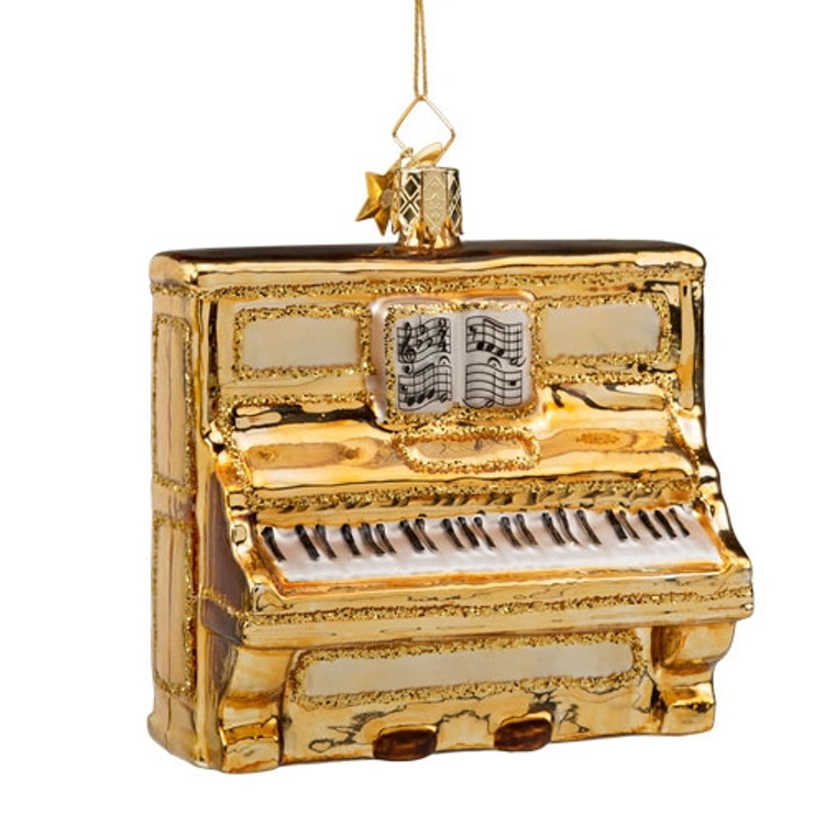 Piano Glass Ornament