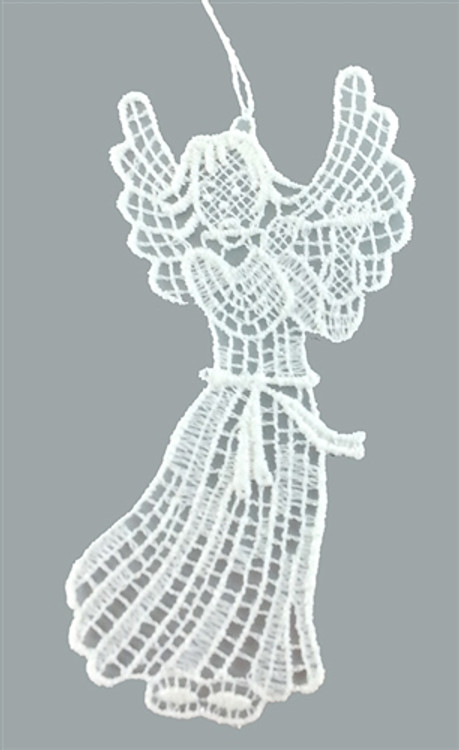 Angel with Flute Linen Ornament