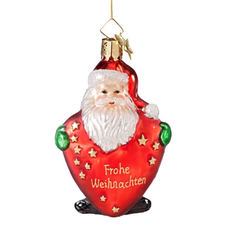 Santa Frohe Weihnachten Heart