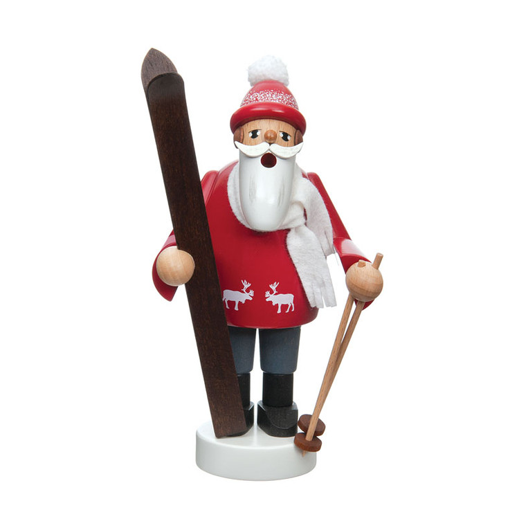 Santa Skiing Incense Smoker