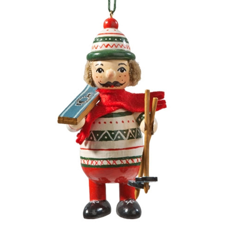 Buddy Skier Wood Buddy Ornament